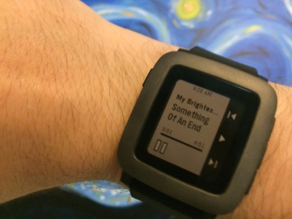 Pebble Time's Music App