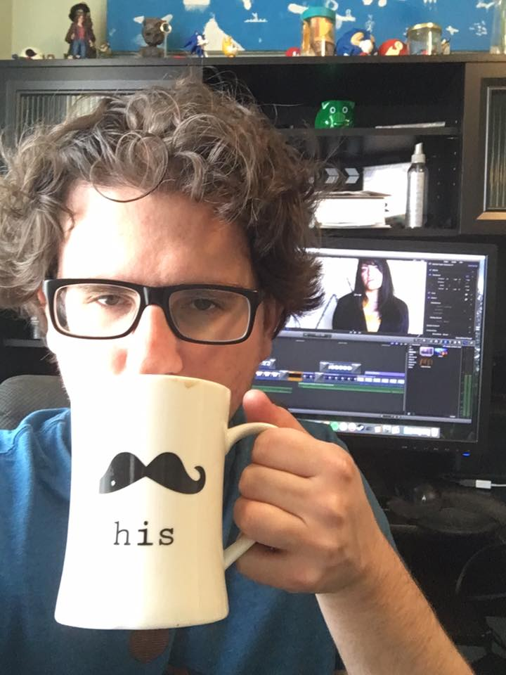 Editing District Up while having a mocha
