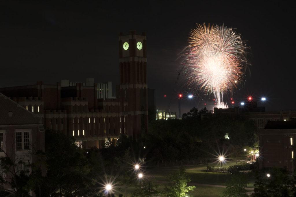 Fireworks at OU - photo by Dennis Spielman