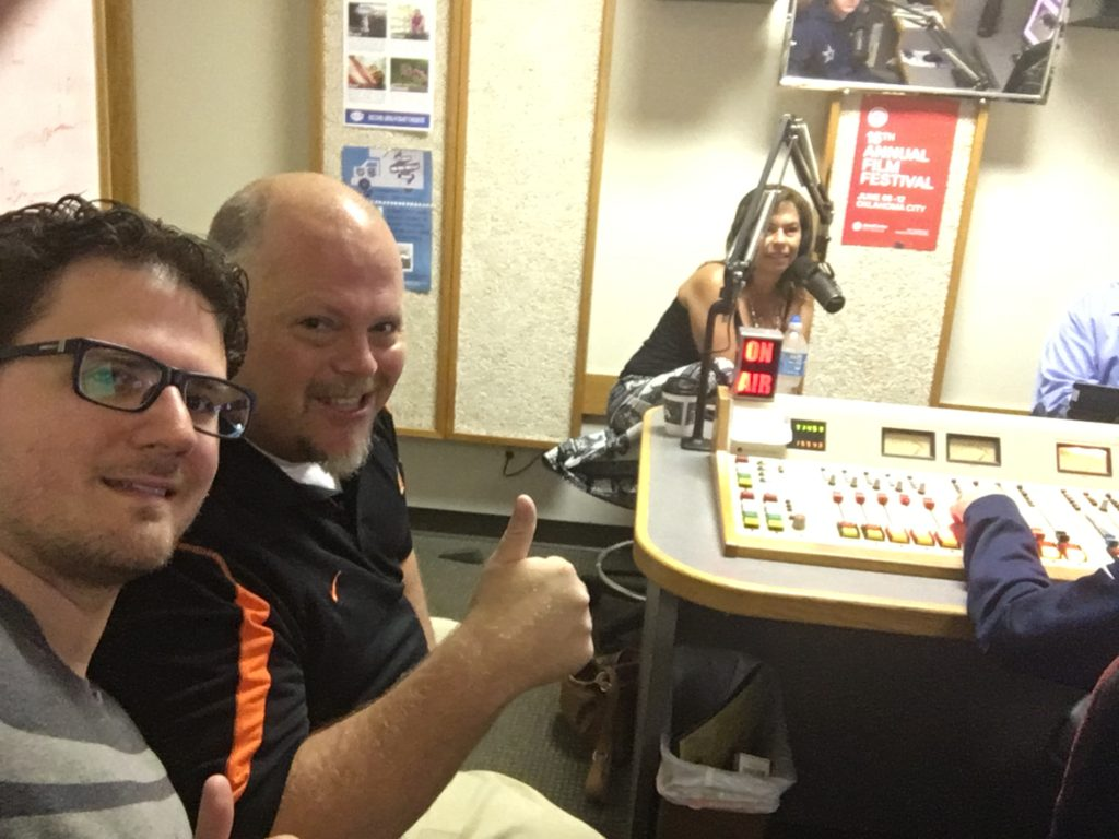 Selfie with Ben Hlavaty and Heide Brandes on Mitchell in the Morning