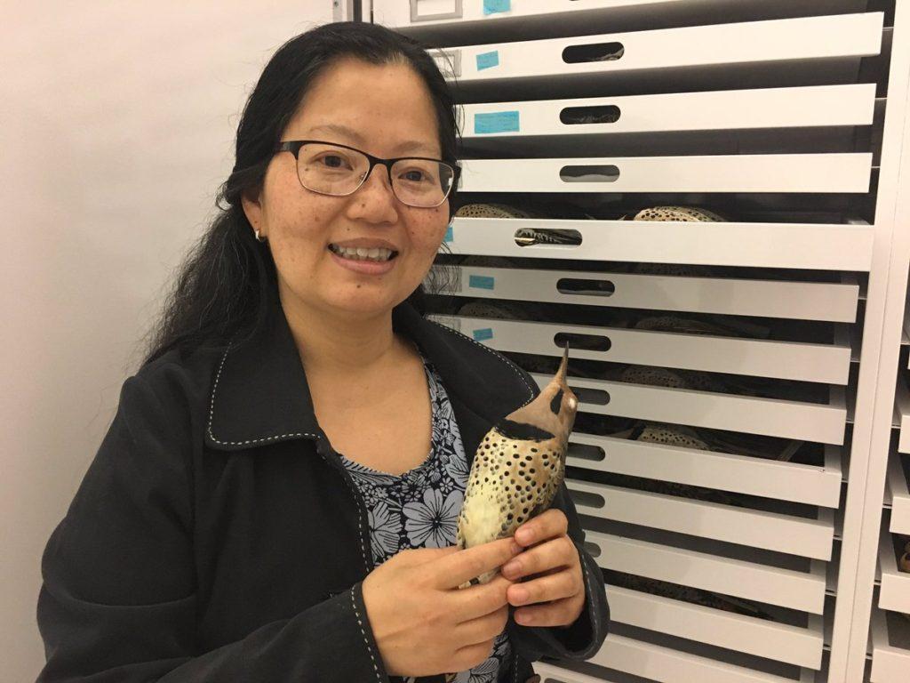 Tamaki Yuri holds bird for Yes Science