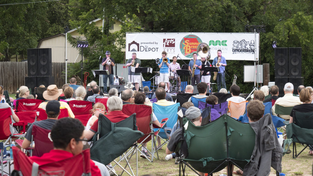 Summer Breeze Concert Series - Boyd Street Brass - photo by Dennis Spielman