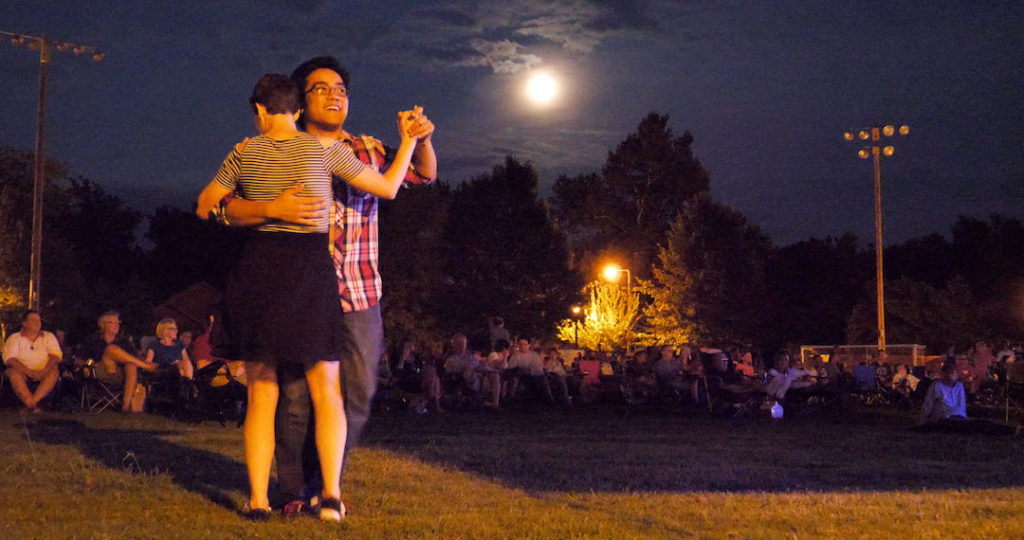 Moonlight Dancing at the Summer Breeze Concert Series - photo by Dennis Spielman