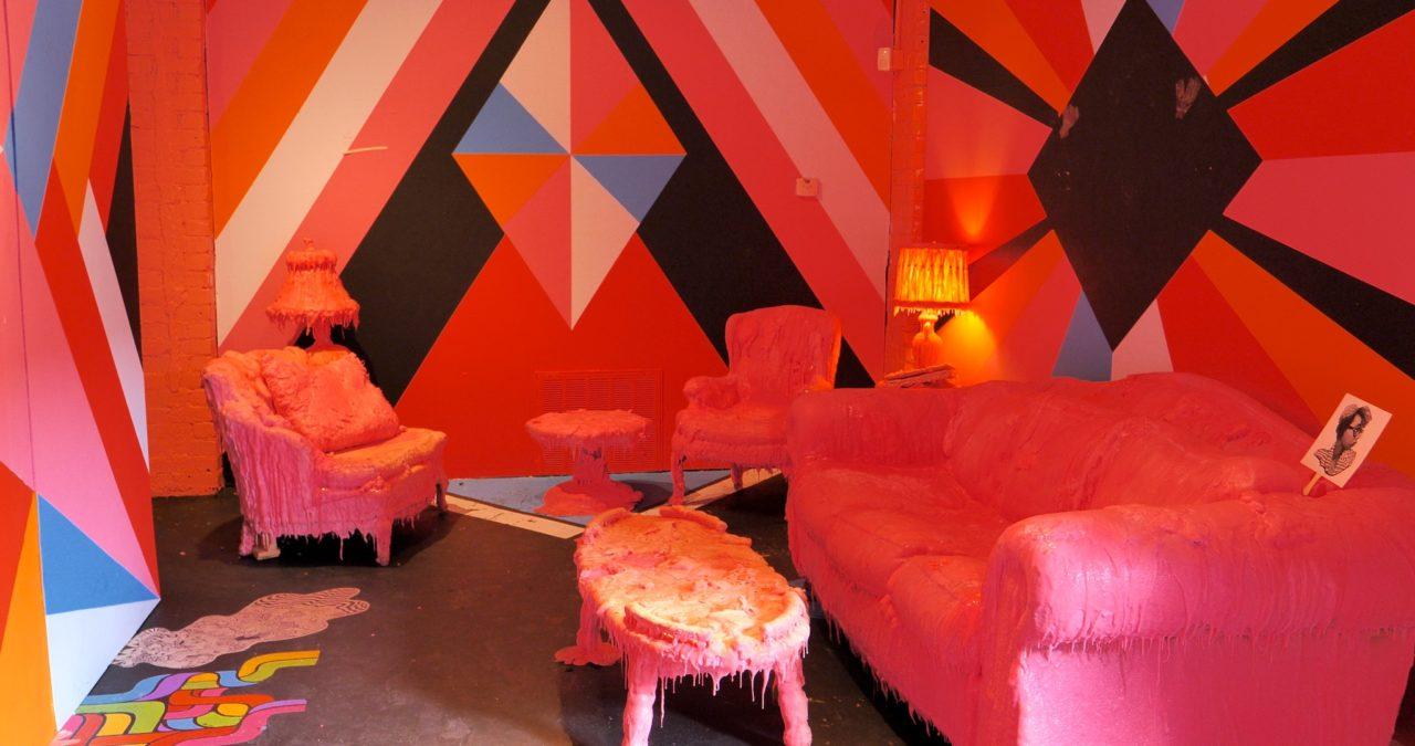 Inside the WOMB Gallery - photo by Dennis Spielman