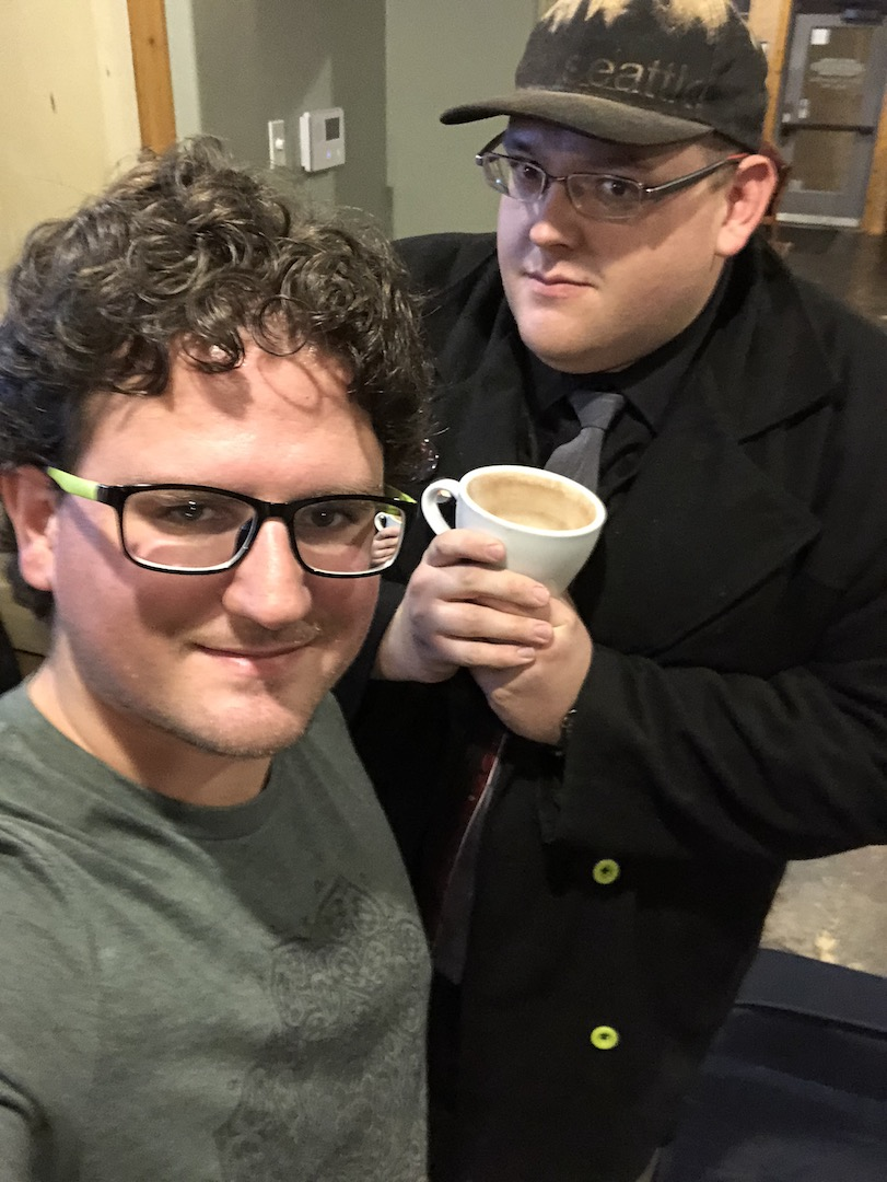 Selfie with Jarvix at Classen Coffee