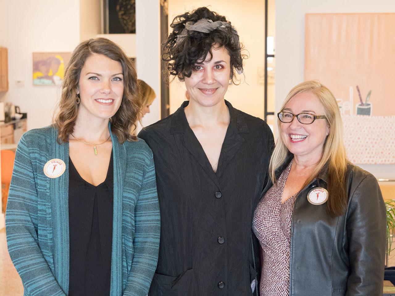 Sarah Day-Short, Alexis Austin, and Debra Ashley at Chromatic Ritual - photo by Dennis Spielman
