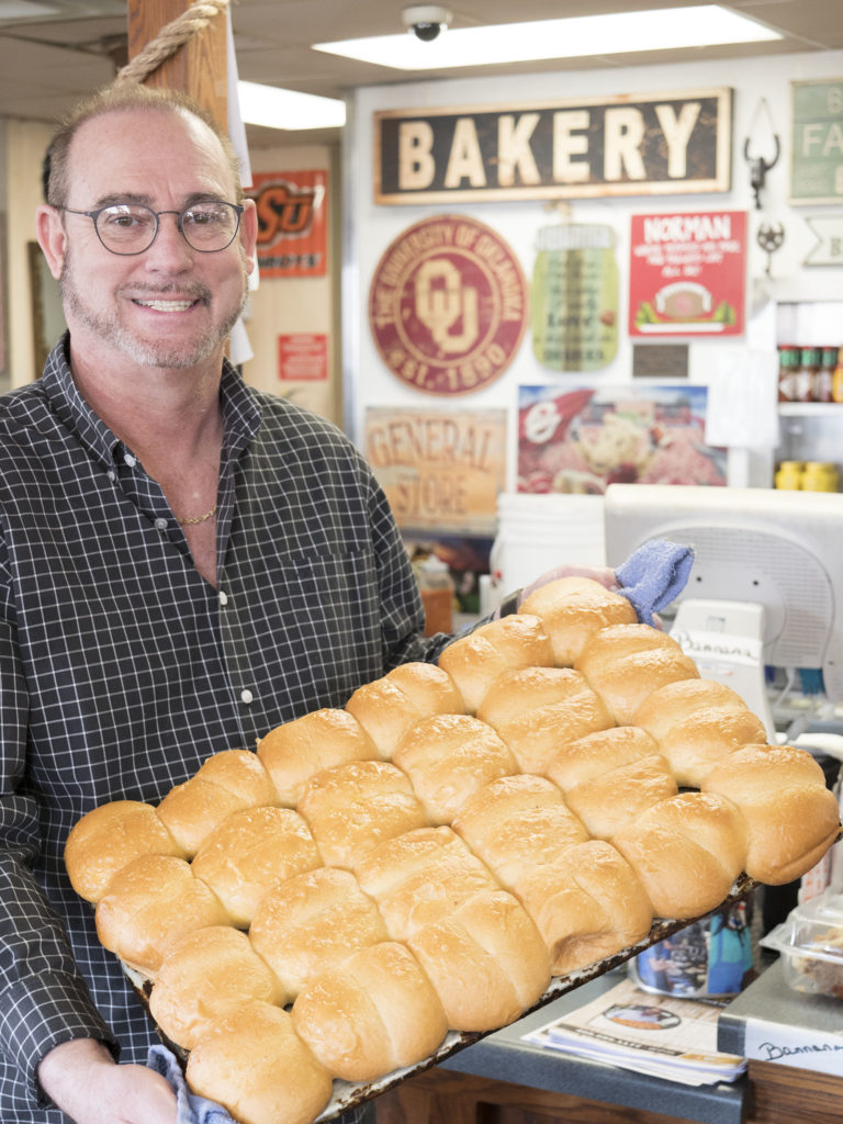 Jimmy with their rolls - photo by Dennis Spielman