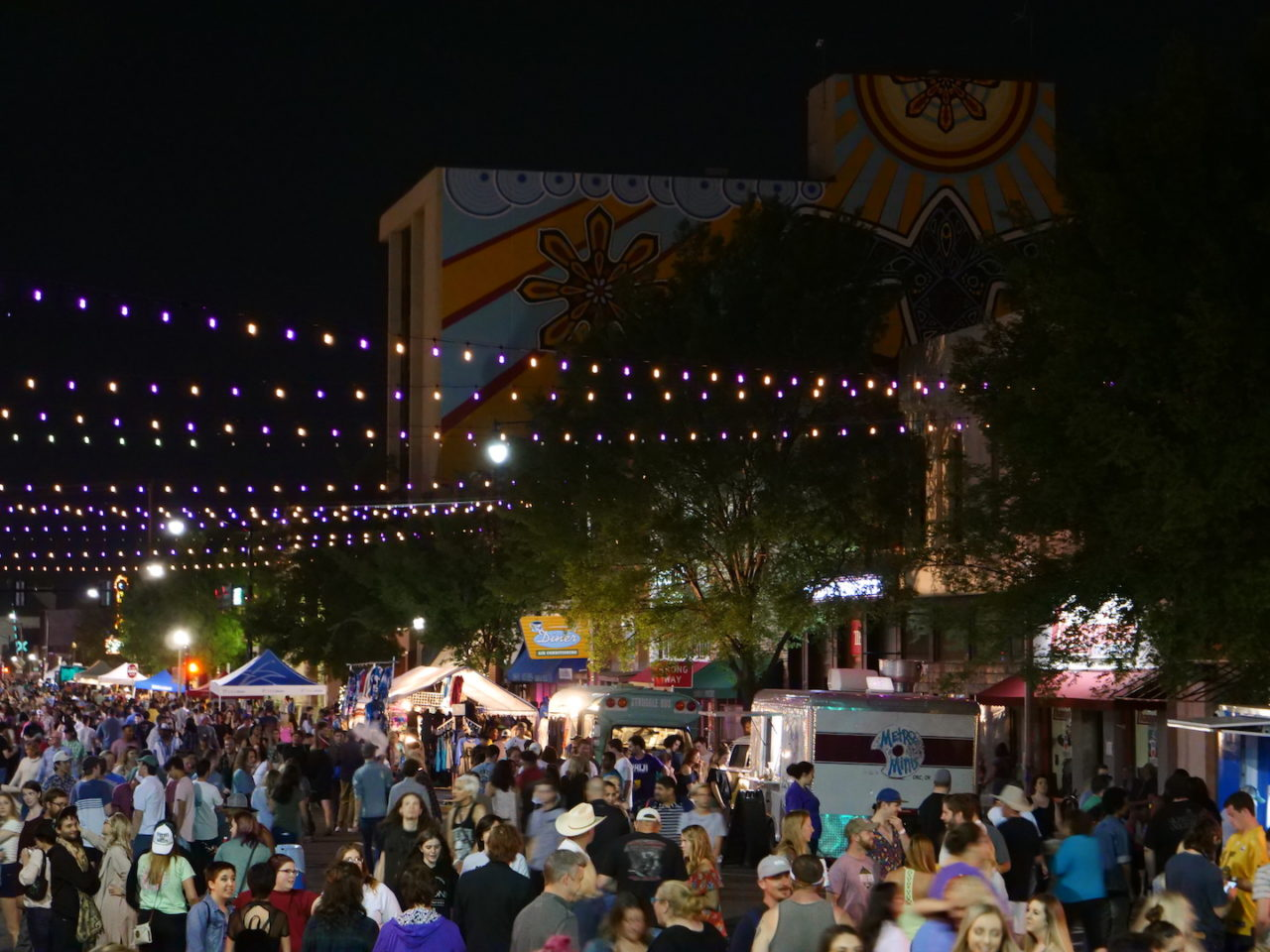 Downtown Norman during the Norman Music Festival - photo by Dennis Spielman
