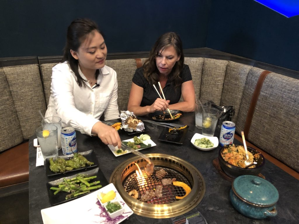 Wagyu Japanese BBQ with Jade and Heide - photo by Dennis Spielman
