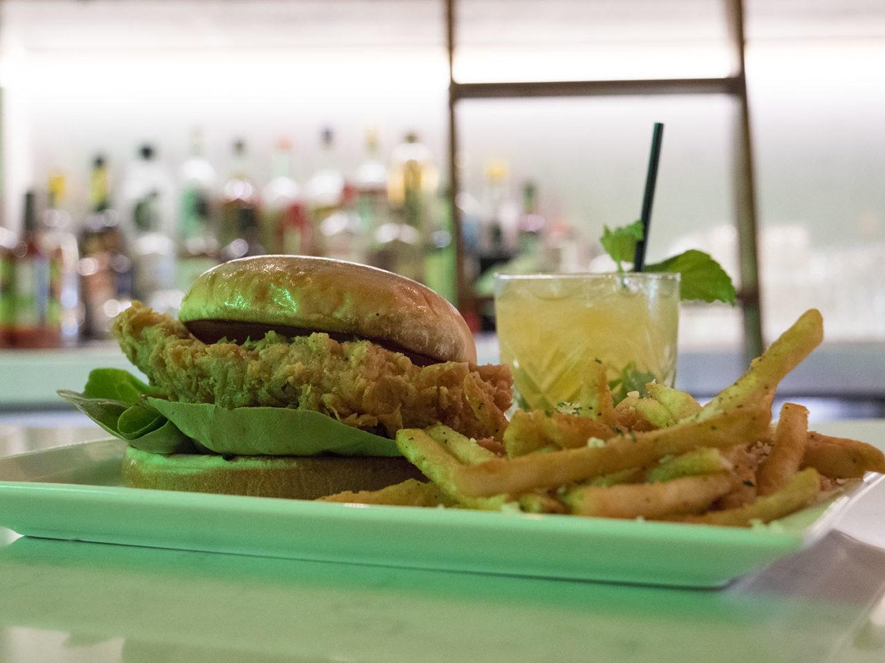 Chicken Sandwich at The Winston - photo by Dennis Spielman