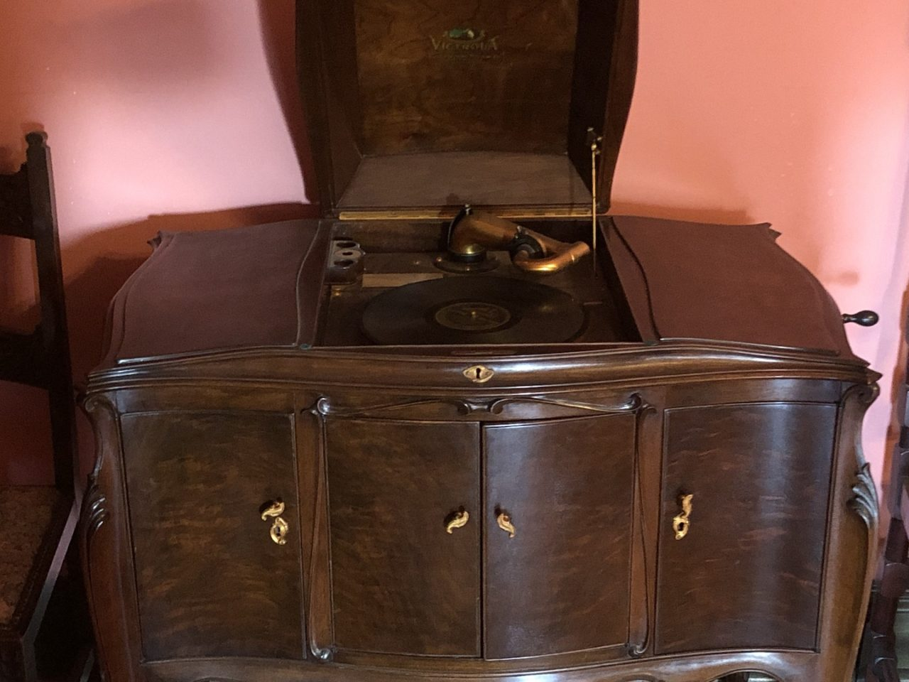 Victrola at the Overholser Mansion - photo by Dennis Spielman