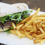 Steak Sandwich with Fries at Ludivine - photo by Dennis Spielman