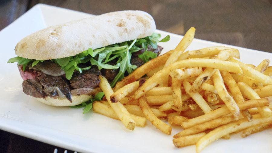 Steak Sandwich with Fries at Ludivine - photo by Dennis Spielman