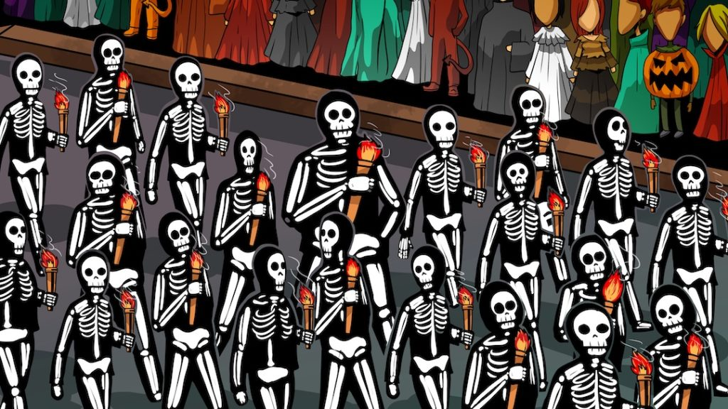 A parade of skeletons