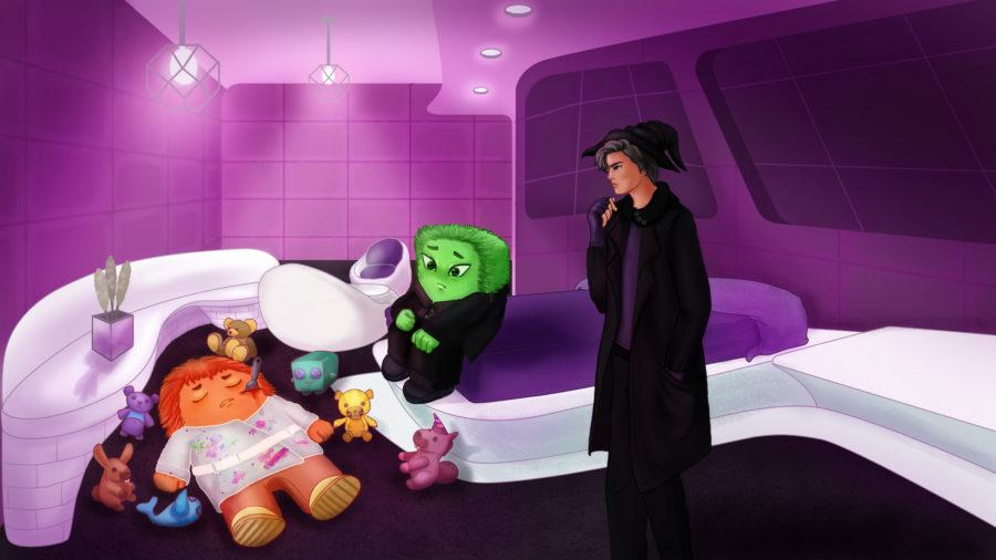 Who Killed the Toymaker Aboard Starbringer 2 - art by Janine De Guzman at Design Pickle