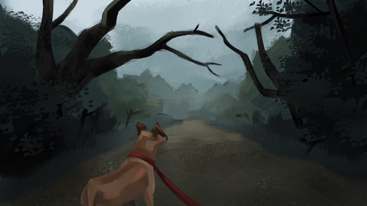 I'll never walk Sutton Wilderness in the dark again - art by Mikey Marchan at Design Pickle
